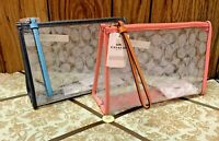 New Coach Beach Clutch In Signature Clear Canvas Pink Lemonade or Midnight 99430