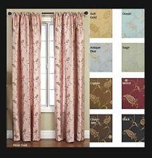 Softline - Jakarta Rod Pocket 55 x 108 inch Curtain Panel - Rose Dust