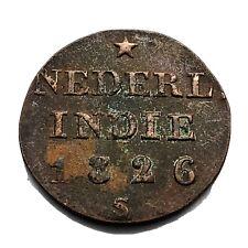 Authentic 1826 Copper Duit Shipwreck Coin VOC Indonesian Dutch Relic Old A10