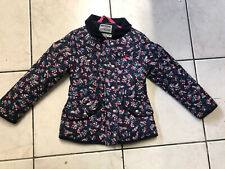 Girls Joules  quilted Floral Jacket Age 5 chest 24