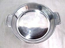 "Alloy Metal Vintage Silver-tone Tarnish Resistant Serving Dish w/ Handles 8""diam"