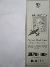 8/1945 PUB THE AIRSCREW CO WEYBRIDGE PROPELLERS HELICES WELLINGTON ORIGINAL AD