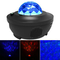 Bluetooth LED Starry Night Light Projector Speaker Ocean Star Sky Party