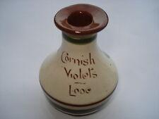 C1920s vintage Torquay ware Cornish violettes Looe parfum botttle