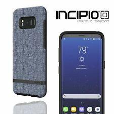 Incipio Samsung Galaxy S8 Esquire Phone Case Slim Fabric Tough Back Cover Blue