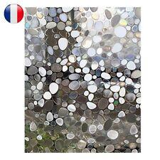 Mat Film Autocollant Sticker Motif Galet Anti-UV Anti-Vue Verre Fenêtre 60*200cm