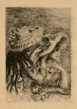PIERRE AUGUSTE RENOIR, 'LE CHAPEAU EPINGLE', original etching, 1894.