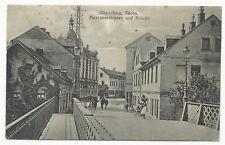 AK Glachau / Sachsen - Meeranerstraße und Brücke 1918