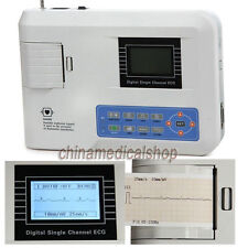 FDA Digital Single Channel 12 leads Portable ECG/EKG Machine Electrocardiograph