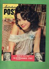 AUSTRALIAN POST MAGAZINE- 30st JULY 1958, MARILYN MONROE