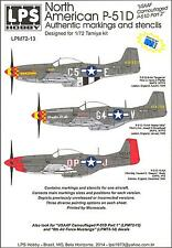 LPS Decals 1/72 NORTH AMERICAN P-51D MUSTANG Camouflaged P-51 Part 2