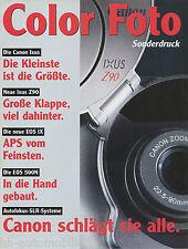 Sonderdruck Color Foto 1/97 1997 Canon Ixus EOS IX 500 N SLR Autofokus reprint