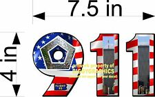 9-11 911 IN MEMORY OF VINYL DECAL NEW DESIGN FULL COLOR