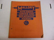 Mallory Auto Radio Service and Replacement Manual  1935 060713ame