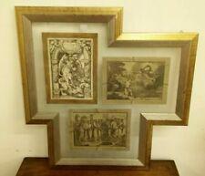Stampe Antiche , Lotto Di 3 Stampe Antiche , Stampe Con Immagini Arte Sacra