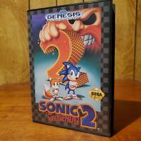 SONIC THE HEDGEHOG 2 - Sega Genesis Case - Game & Booklet Very Nice