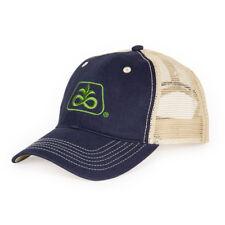 PIONEER SEED *NAVY BLUE & TAN MESH BACK* Trademark Logo CAP HAT *BRAND NEW* PS05