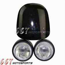 Naked Dual sport Motorcycles Streetfighter Twin Headlight Light  Fly Screen New