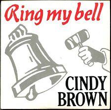 CINDY BROWN - RING MY BELL - CARDBOARD SLEEVE CD MAXI