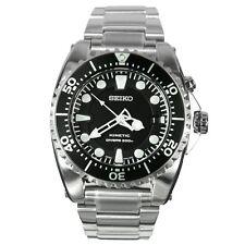 SEIKO Kinetic SKA371 SKA371P1 Mens Black Dial Scuba Diver's 200m Steel Watch