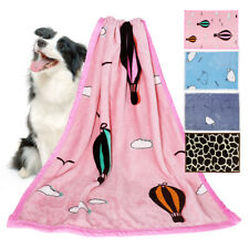 Dog Blanket Fleece for Cats Puppy Small Large Dogs Warm Soft Velvet Dog Bed Mat