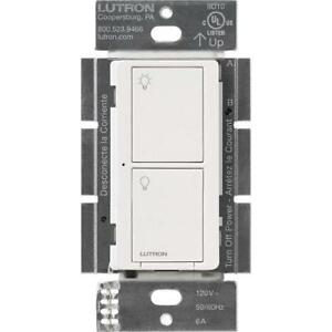 LUTRON PD-6ANS-WH WHITE CASETA NEUTRAL-WIRE IN-WALL SWITCH 120V 720W