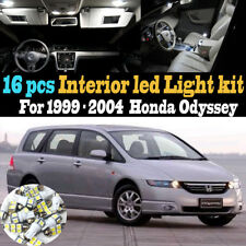 16Pc Super White Interior LED Light Bulb Kit Package for 1999-2004 Honda Odyssey