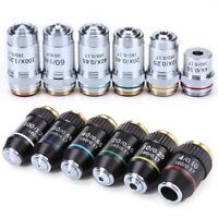 Microscope 195 Achromatic Objective Lens 4X 10X 20X 40X 60X 100X