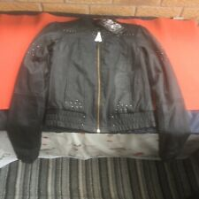Ed Hardy Ladies Love & Roses Leather Jacket RRP£600 BNWT, Very Rare & Authentic