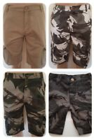 BOYS' KIDS` WRANGLER COTTON CARGO SHORTS AGE 4-5-6-7-8-9-10-11-12
