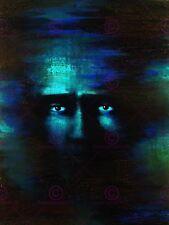 La PITTURA bizzarra faccia surreale occhi astratto PRILL in mente x Tela Art Print