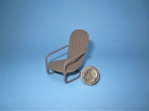 Micro Miniature Retro Glider Chair rustic finish metal outdoor Fairy Garden