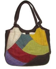 Hemp Purse EARTH DIVAS Multicolored Shoulder Bag Organic Cotton Lining Sturdy