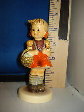 Hummel School Girl German Porcelain 4 inches #924 Cab 2