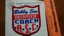 FAST PITCH SOFTBALL BOOBY SOX FAST PITCH A.S.C.  SEW ON PATCH   PATCH    BX 4 #9