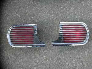 1963 Pontiac Grand Prix Tail Lights & Bezels - Left & Right Side