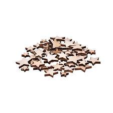 Lot 100x Wooden Mixed Star Buttons Craft Cardmaking Scrapbooking Embellishment o