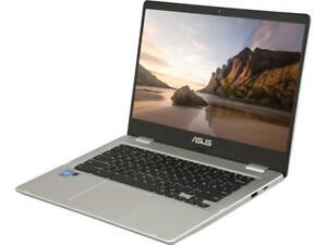 "ASUS Chromebook C423NA-DH02 14.0"" HD Intel Celeron N3350 4GB 32GB - Silver"