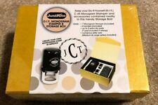 JustRite DIY Monogram Stamper & Storage Box -  New!