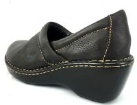 Born Women's 6M Pebble Leather Shoes wedge heel clogs slip on loafer