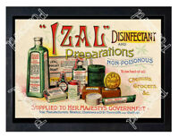 Historic Izal Disinfectant and Preparations, 1880s Advertising Postcard