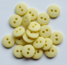 NEW PACK X 20 LEMON MATT PASTEL DOME  BUTTONS SIZE 14 (9mm) BABY CRAFT SEWING