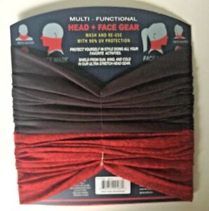 MULTI - FUNCTIONAL UV PROTECTION HEAD FACE MASK HIGH STRENGTH STRETCH 2 PACK NEW