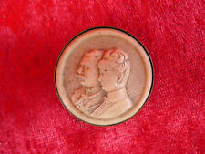 antique Brooch__German Imperial Couple__lapel pin __Original from the period
