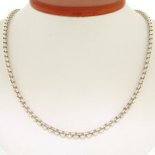 """Made in USA Solid .999 Pure Silver 20"""" 4.15mm Heavy Rolo Link Chain Necklace 25g"""