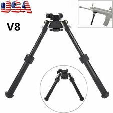 "Us Rifle Bipod 4.75-9"" Foldable Qd Picatinny Rail Mount V8 Tactical Flat Hunting"