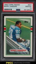 1989 Topps Traded Barry Sanders ROOKIE RC #83T PSA 10 GEM MINT