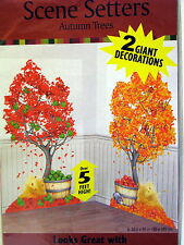 Autumn Trees Scene Setter – Fall Leaf Decorations Over 5 ft (2 in Package)