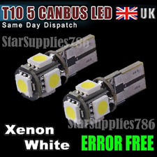 5x SUPER XENON WHITE CANBUS LED BULBS 5 SMD 501 T10 5W ERROR FREE LED SIDELIGHTS