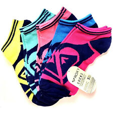Roxy Socks ~ 5 pack ~ Athletic Low Cut ~ Women's ~Multi Color~New-Free Shipping